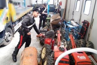 Fermato trafficante di attrezzi agricoli