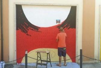 Sant'Agata sul Santerno ricorda Custode Marcucci con la street art
