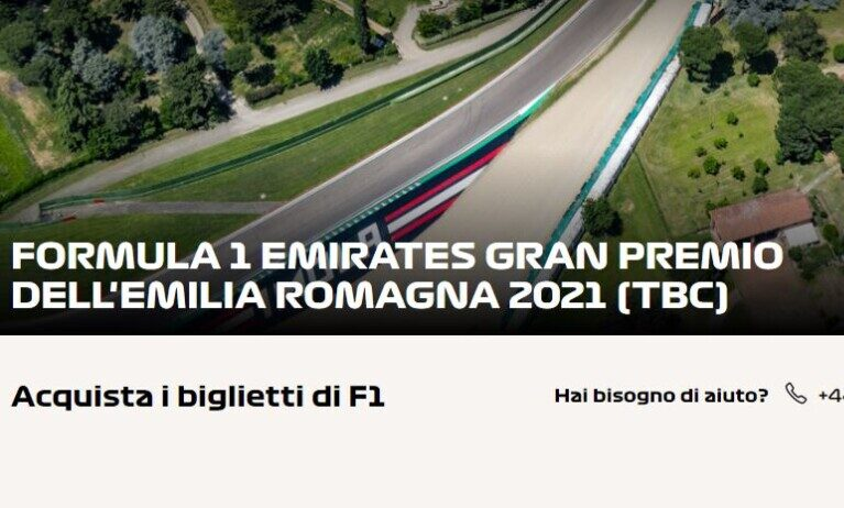 F1, Imola inserita nel calendario provvisorio del 2021